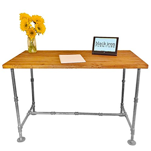 Large Industrial Vintage Style Steel Pipe Desk