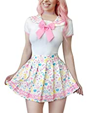 LittleForBig Cotton Romper Pajamas Bodysuit – Cosplay Magical Onesie Skirt Set