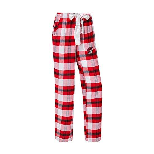 Concepts Sport Portland Trail Blazers Women's Flannel Pajamas Plaid PJ Bottoms (Large) ()