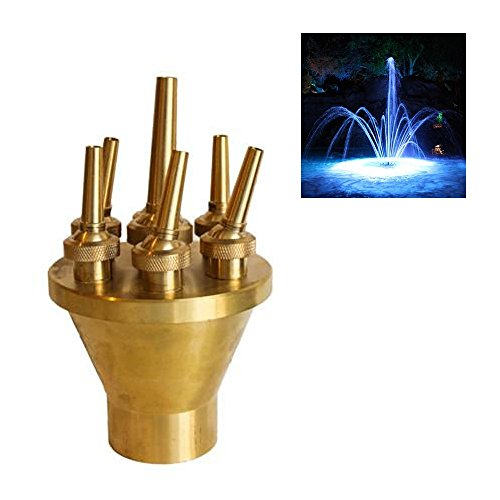 NAVADEAL 1'' DN25 Brass Lotus Fountain Nozzle Spray Sprinkler Head by NAVADEAL