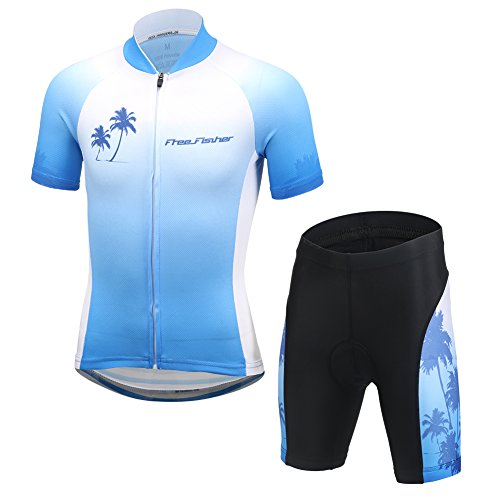 CH&Q Kids Boys Girls Cycling Jersey Set Short Sleeve Jersey Clothing Apparel Suit for Mountain Bike Road Racing Outdoor