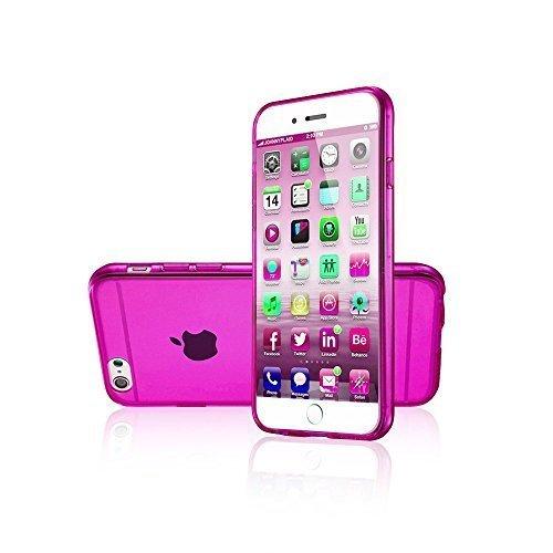 Avcibase Slim TPU Silikon durchsichtige vollfarbige Schutzhülle für Apple iPhone 6 (11,9 cm (4,7 Zoll), 0,3mm) rosa