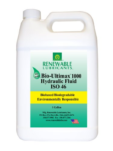 Renewable Lubricants Bio-Ultimax 1000 ISO 46 Hydraulic Lubricant, 1 Gallon Jug - Gear Oil Viscosity