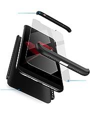 Funda XiaoMi Mi 8 Carcasa XiaoMi Mi 8 con [ Protector de Pantalla de Vidrio Templado ] 3 en 1 Desmontable XiaoMi Mi 8 Funda Protectora - pulgada 360 ° complete package protection - Negro Rojo