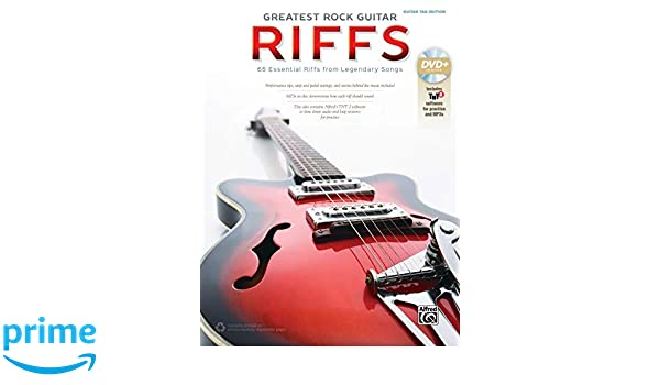 The Greatest Rock Guitar Riffs: Guitar Tab, Book & DVD-ROM: Amazon ...