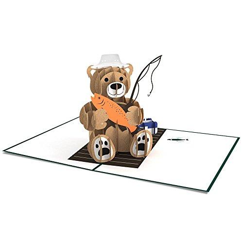 Lovepop Fishing Bear 3D Pop Up Card