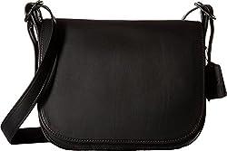 COACH Women's Gloveton Leather Saddle Bag DK/Saddle Cross Body