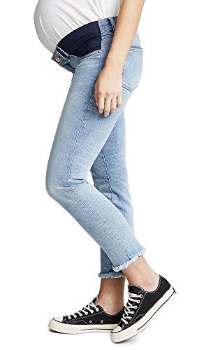 DL1961 Women's Mara Straight Ankle Instasculpt Maternity Jeans, Promenade, 27 (Maternity Jeans Seven)
