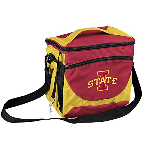 NCAA Iowa State Cyclones 24-Can Cooler with Bottle Opener and Front Dry Storage Pocket (Iowa State Pocket)