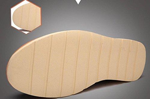Scarpe da Pelle Scarpe Scarpe in Brown Casual Uomo Stringate Scarpe Uomo Pelle Primavera Fx4vdZqvO