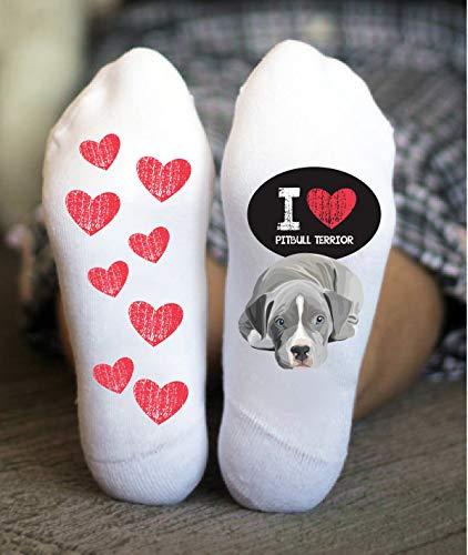 - Pitbull Terrier Socks For Her Puppy Love Funny Women Birthday Gift