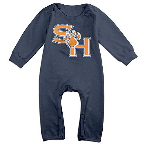 [KIDDOS Baby Infant Romper Sam Houston State University Long Sleeve Jumpsuit Costume,Navy 6 M] (Odd Squad Costume)