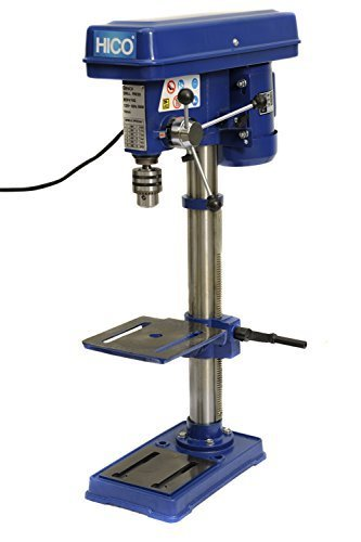 HICO Bench Top Drill Press - 10 Inch Height Adjustable, 9 Speed Motor, Cast Iron Table DP4116 by HICO