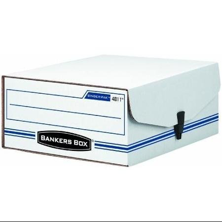Bankers Box Liberty Binder-pak - Taa Compliant - 4.8 Height X 9.8 Width X 11.9 Depth External Dimensions - Plastic - White Blue - Check Voucher Slip (FEL48110) WLM ()