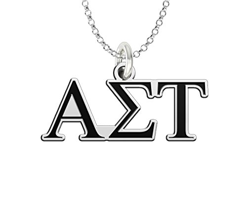 (Alpha Sigma Tau Sterling Silver Antique Letters Charm)