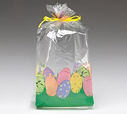 12 Easter Eggs Cello Food Safe Favor Bags