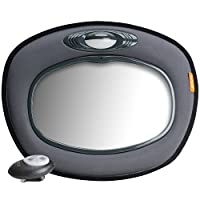 BRICA Day & Night Light Musical Auto Mirror for in Car Safety, Grey