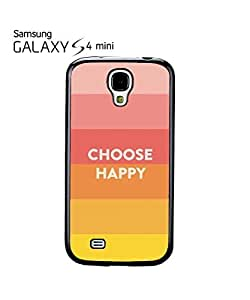 Choose Happy Colours Mobile Cell Phone Case Samsung Galaxy S4 Mini Black