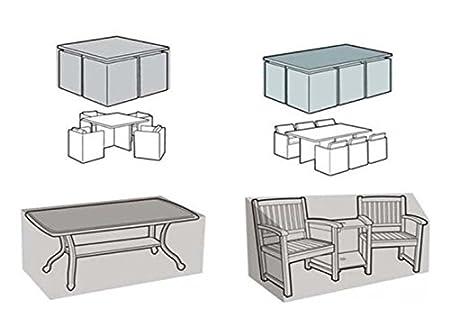 NBD® Funda protectora para mesa de jardín, Cubierta de Protección ...