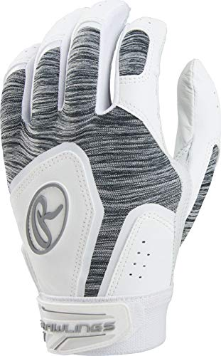 (Rawlings FPWSBG-W-88 Storm Batting Gloves, White)