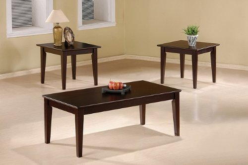Three Piece Occasional Table Set with Tapered Legs by Coaster