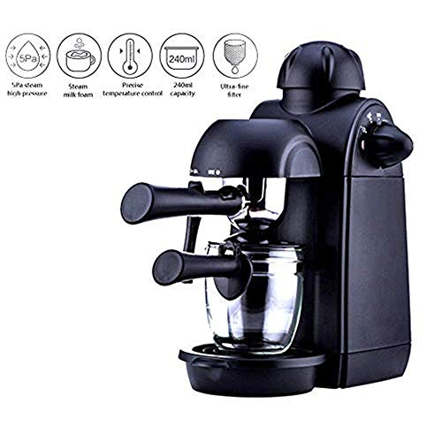 (Coffee Machine Home Small Traditional Pump Espresso Machine, All-in-One Coffee Maker Machine with Milk Frother, 5 Pa Steam High Pressure Built-in Automatic Pressure Relief Device Espresso machine)