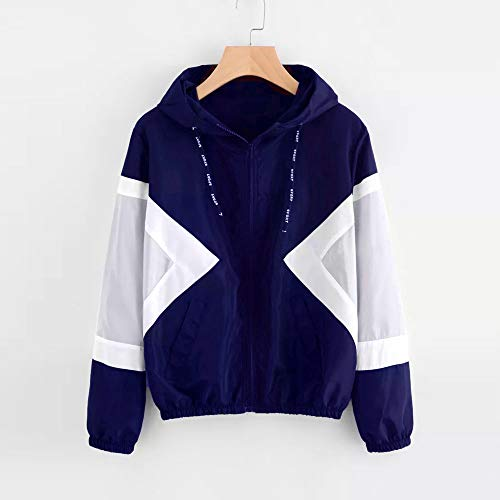 Long Jacket Women Pockets Sport Thin Ladies Blue Sweatshirt Tops Waterproof Hoodie Jumpers Sleeve Coat Hooded LHWY Zipper E7fTqnw