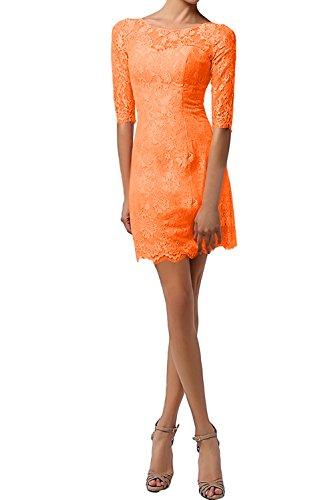 Rund Orange Partykleider Spitze Minikleider Neu Damen Cocktail Ivydressing Modisch Abendmode fZqv6n4