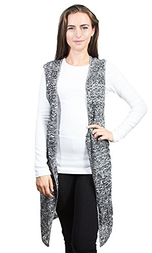 Knit Minded Women's Sleeveless Pointelle Cardigan Duster, Black, (Pointelle Jersey Dress)