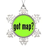 Xixitly Tree Branch Decoration got map Earth Photo Frame Snowflake Ornaments