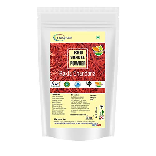- Neotea Ayurvedic Red Sandalwood Powder (Raktha Chandan) (200 Grams)