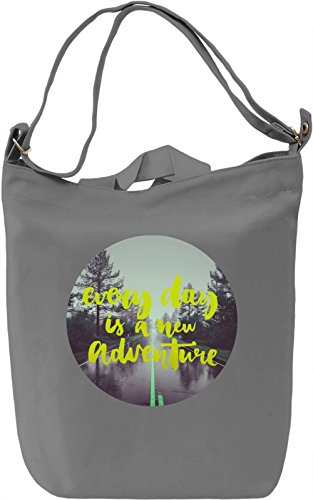 Adventure Borsa Giornaliera Canvas Canvas Day Bag| 100% Premium Cotton Canvas| DTG Printing|