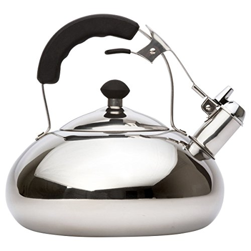 Vanika Stainless Steel Tea Kettle; Whistling Teapot Design; Large 3.0L (3.2 Quart) (Le Chef Water Boiler compare prices)