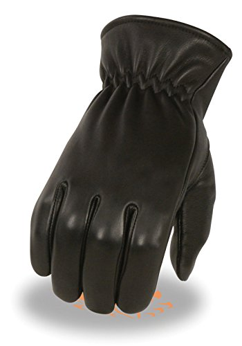 Blk Xl Helmet - Men's American Deer Skin Blk Leather Gloves Unlined with Cinch Wrist Soft Summer (XL Regular)