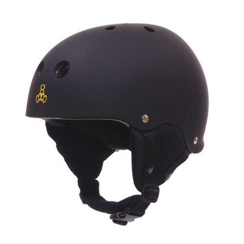 Triple 8 Old School Snow Helmet with Audio (Black, - Helmet Snowboard Old School