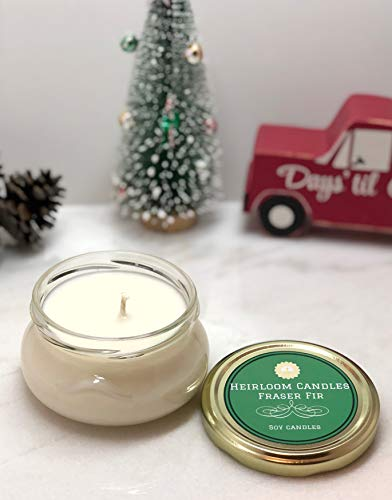 Fraser Fir Scented Soy Candle - Handmade Holiday Candle, 6oz ()