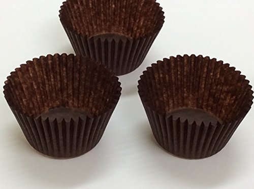 DECONY brown Standard Size Cupcake Paper Baking Cup Liners- appx. 2'' x 1-1/4=4.5- appx. 500/ pack