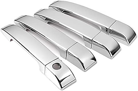 Triple Mirror Chrome Side Door Handle Cover Trim Decorative Adhesive for 06-09 Land Rover Range Rover HSE NOT for Sport Version 2006 2007 2008 2009 Brand New On Sale Decal by phgiveu