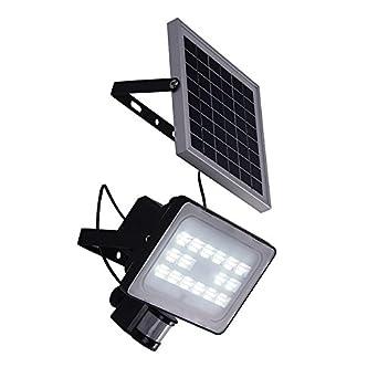 yunt 30 W LED Solar Foco de Luz con detector de movimiento, IP65 resistente al agua ...