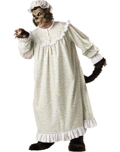 Story Book Wolf Plush Adult Mens Costumes (InCharacter Costumes Big Bad Wolf Adult Night Gown Costume, Multi Colored, X-Large)