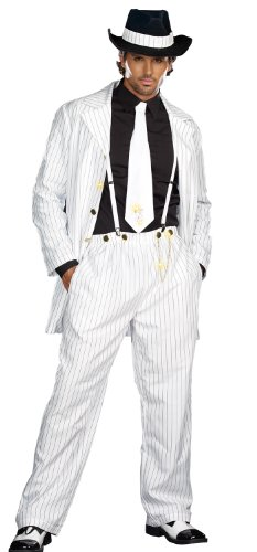 Dreamgirl Men's Zoot Suit Riot Costume, White/Black, Xx-Large -