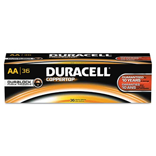 Price comparison product image Duracell Professional MN15P36 Coppertop AA Batteries (Pack of 36)