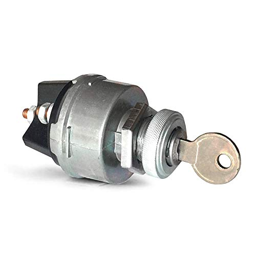 MGI SpeedWare Universal Ignition Key Switch - 4 Position Starter for 12V Car, Boat, ATV, Truck and Tractor