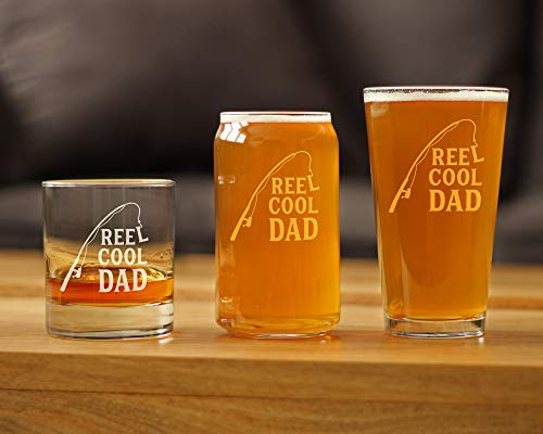 Dad Est 2019 New Dads Whiskey Rocks Glass Gift for First Time Father Bold Engraved Whisky Drinking Glasses