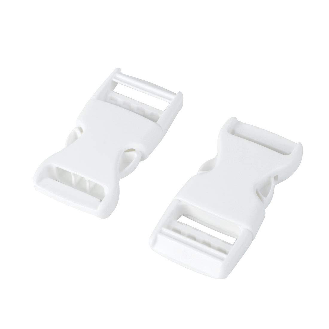 sourcingmap 10 pz in plastica bianca fibbie a sgancio rapido Tracolla in tessuto Chiusura 25mm