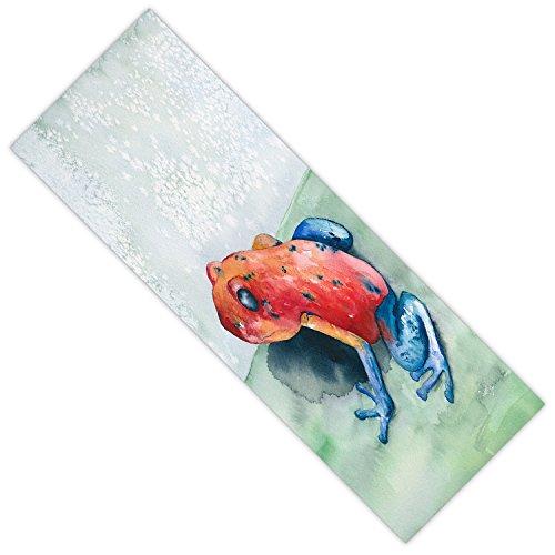 DiaNoche Designs Not Applicable DiaNoche Designs Yoga Mats By Brazen Design Studio - Blue Jean Frog, 24 x 72 Standard Frog Denim