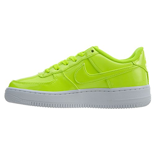 Nike AIR Force 1 LV8 UV (GS) Boys Basketball-Shoes AO2286-700_4Y - Volt/Volt-White-White by Nike (Image #4)