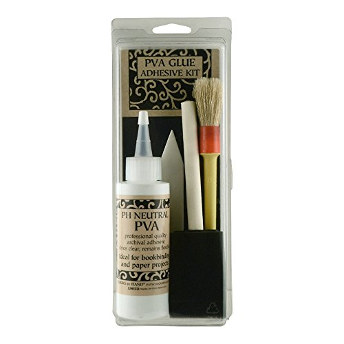 Lineco Book by Hand PVA Glue Adhesive Kit for Bookbinding and Craft Making (BBHM207K) (Pva Foam)