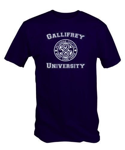 6 TEE NINERS UNIVERSITY OF GALLIFREY T SHIRT (Available in Blue, Black and Red sizes small to XXL)