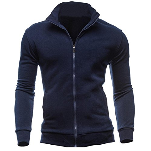 kaifongfu Men's Coat, Autumn Winter Leisure Sports Cardigan Zipper Sweatshirts Tops Jacket...
